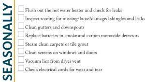 Seasonal Checklist