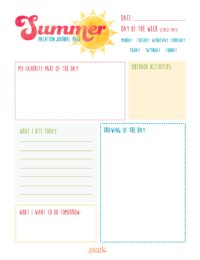 summer journal printable