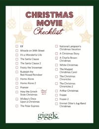 Christmas Movie Checklist